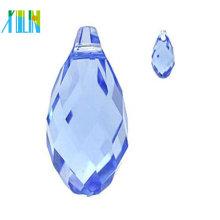 Gota de vidro facetado diamante top perfurado gota
