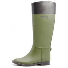 Коричневый и оливковый зеленый женщин, резиновые сапоги для верховой езды