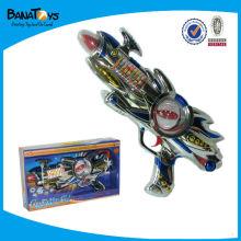 Pistola de juguete de plástico, pistola de brillo, pistola de juguete B / O con flash
