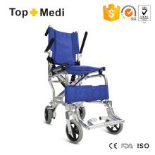 Cadeiras de rodas de alumínio Topmedi Transit com apoio de braço rebatível