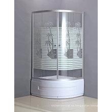 Cabina de ducha económica de Ware con bandeja con falda