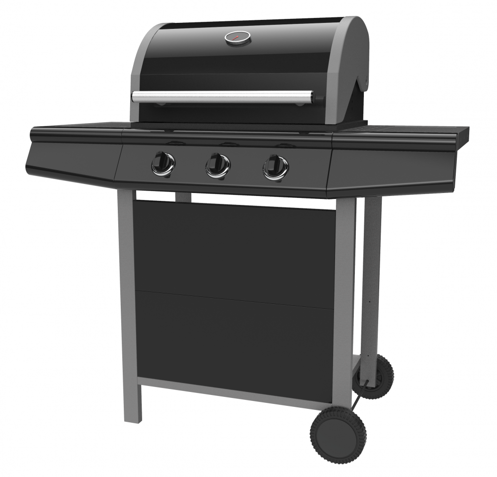 Double Layer Hood Gas Grill