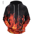 Sudadera con capucha y estampado digital red fire