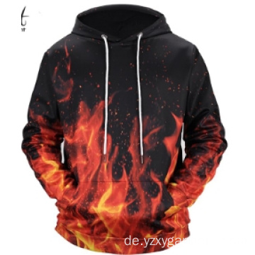 Red Fire Digitaldruck Hoodie