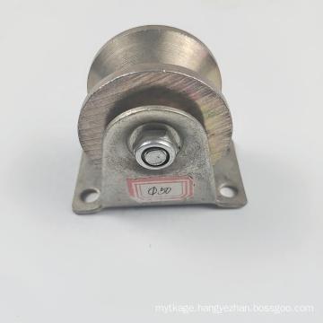 High quality V U H T type galvanized steel sliding gate wheel for door gate