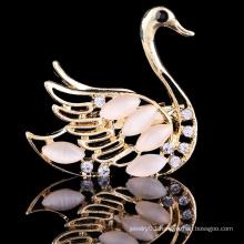 New design wedding rhinestone brooch, swan bulk brooch, china wholesale brooch