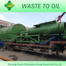 XinXiang HuaYin 5/8 / 10Ton Waste / Used Tire Recycling Machine para refinar el aceite combustible