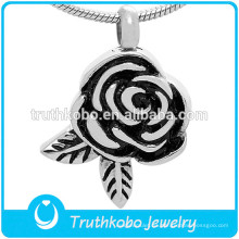 Diseño floral colgante de cremación collar de cenizas joyas conmemorativas