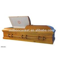 Jewish casket with david star