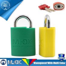 MOK@W203/W203L 30mm master key long shackle lock manufacturer globe padlock cover with plastic