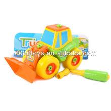 21 centímetros caminhão de empilhadeira roda livre DIY brinquedos, brinquedos educativos