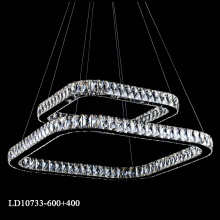 Modern led K9 crystal chandelier home depot