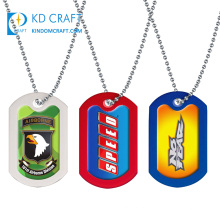 Wholesale no minimum custom blank metal engraved sublimation coated country flag air force fashion military dog tags for sale