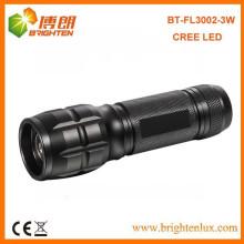 China Factory Custom Made High Power 3watt Aluminium Dimmable led Zoom Lampe de poche / torche