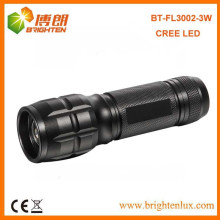 Китай Завод питания CE одобрил регулируемый фокус 3Watt алюминия Лучший светодиодный CREE фонарик с 3 * AAA батареи
