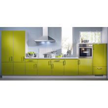 Modernos gabinetes de cocina de acrílico blanco (ZHUV)