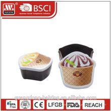Lebensmitteltaugliche Tierform Kinder Kunststoff Brotdose mit Besteck