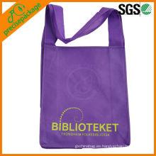 La imagen imprimió el bolso no tejido pp largo de las compras de la manera reutilizable de las compras