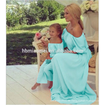Großhandel Mama und ich Kleider Baumwolle Mutter und Tochter passendes Kleid