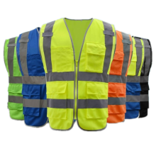 Gilet réfléchissant de sécurité hiviz en tissu tricoté pour travailleur