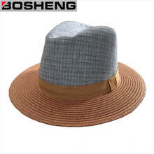 Sombrero unisex de la playa del verano de Fedora Sombrero del sol de la paja