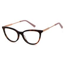 New Model Hot Sale Prescription High Quality Fashion Acetate Glasses Women Italy Design