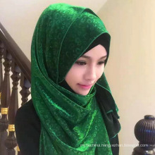 Fashion design multi color hot-selling Arab women muslim hijab scarf dubai scarf market