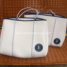 White ​Ladies Neoprene punch beach bag