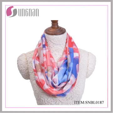 2016 bufanda colorida del infinito del algodón de las señoras del modelo de la letra (SNBL0185)