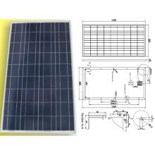 Solar-polykristalline PV-Modul-Platte 18V 120W 125W 130W mit TÜV genehmigt