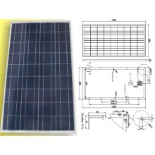 18В 120 Вт 125 Вт 130 Вт солнечных батарей поликристаллических фотоэлектрических модулей панели с TUV одобрил