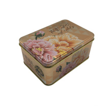 Rectangle Shape Wholesale Cookie Cake Box Packaging Tin Container