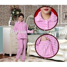 Lã de boa qualidade roupões de banho para as mulheres, roupa de noite das mulheres