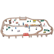 90pcs Wooden Train Set Popular Train Toys for child