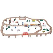 Набор деревянных поездов 90шт. Популярные игрушки для детей