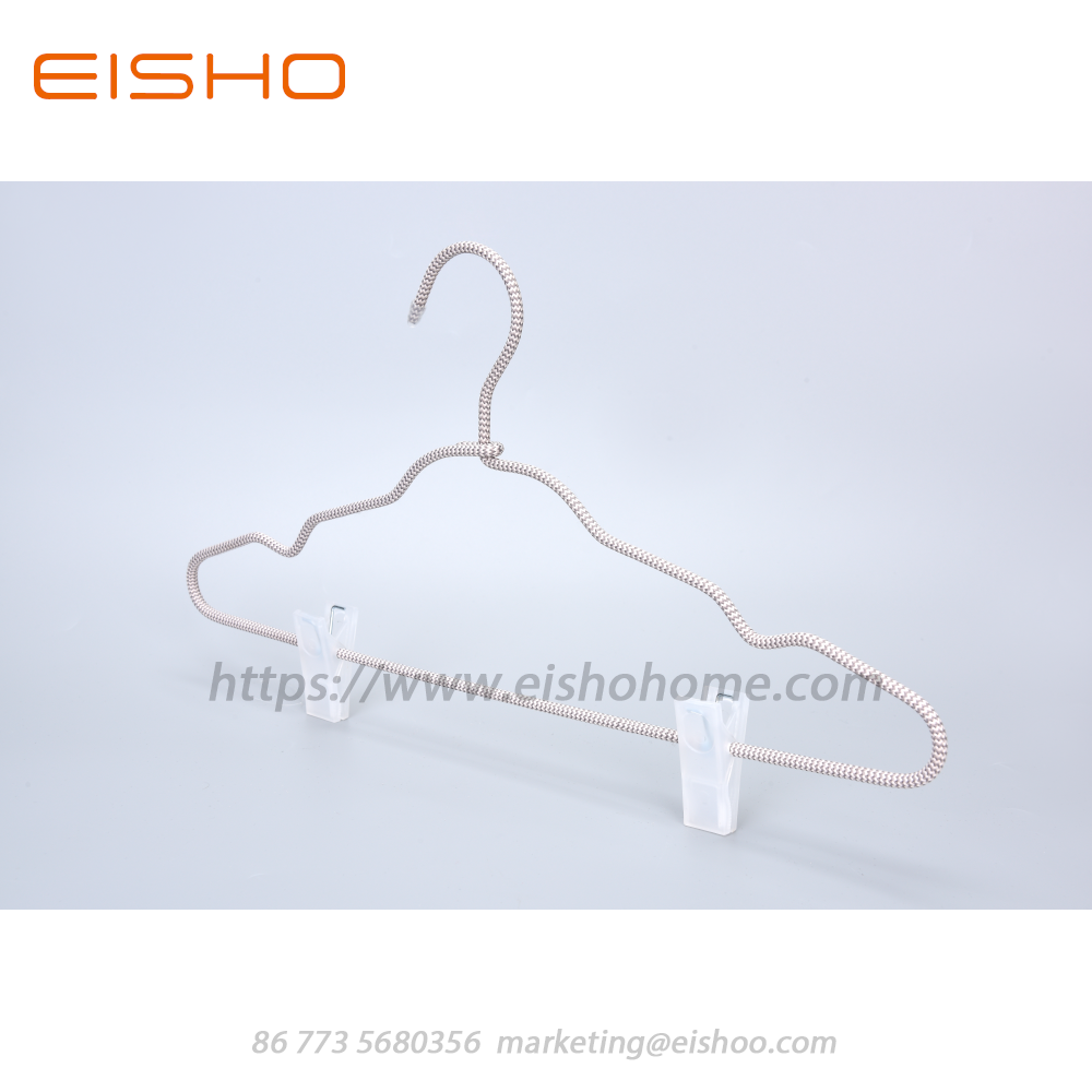 15 Eisho Cord Covered Coat Hangers With Clips