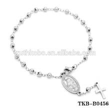 Bracelet Rosaire Prière Notre Dame de Guadalupe en Argent Bracelet Bracelet Catholique Croix avec Perles