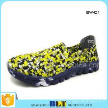 Damen-bunte gewebte Schuhe der preiswerten Frauen