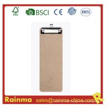 Customized 29*12 Cm Size Wooden Clipboard with Flat Clip