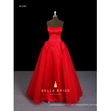 Heißeste Dippes Hals Prinzessin Taille rot Geburtstagskleid für Mädchen von 7 Jahre alt