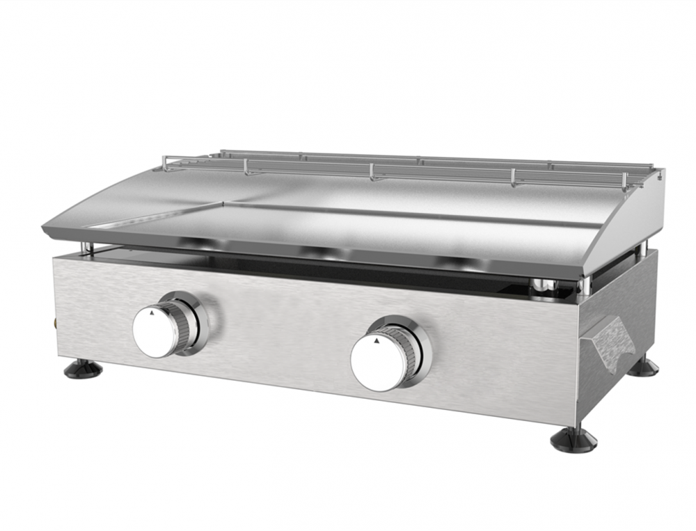Stainless 2 Burner Gas Griddle