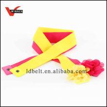 Design colorido com fivela de flores Cinto elástico de moda de senhora
