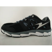 Latest Design Black Mesh Breathable Gym Shoes for Men
