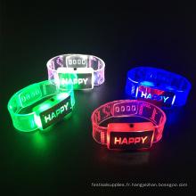 2017 nouveau parti d'approvisionnement led clignotant bracelet
