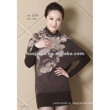 Vestido de camisola de inverno de cashmere de moda feminina