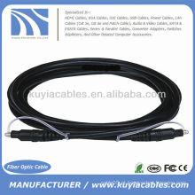 10ft Optical Toslink 5.0mm OD cabo de áudio