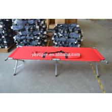 Military aluminium army camping folding bed