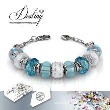 Schicksal Schmuck Kristall von Swarovski Perlen Bettelarmband