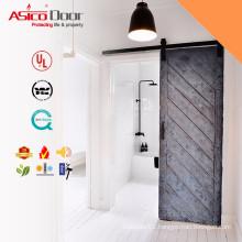 Sliding Trap Door Solid Shower Barn Door With Barn Door Hardware