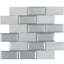 European Style Hotel Decorative Glass and Marble Mosaic Tile Sheets